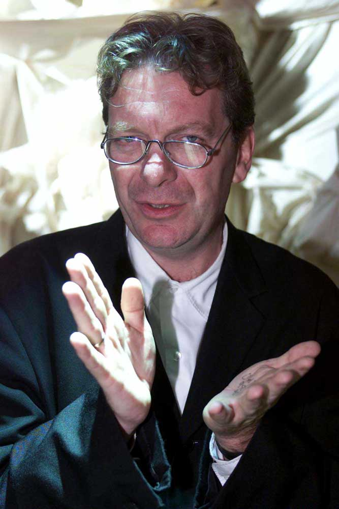 Music producer and broadcaster Tony Wilson, November 1999