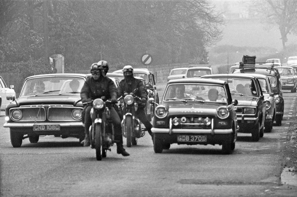 Heavy Easter traffic on the A556, April 1969