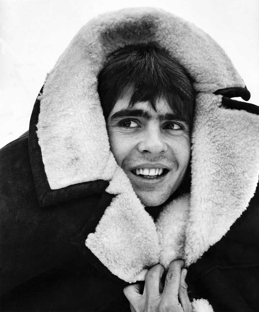 Openshaw singer Davy Jones wraps up in Manchester, January 1970