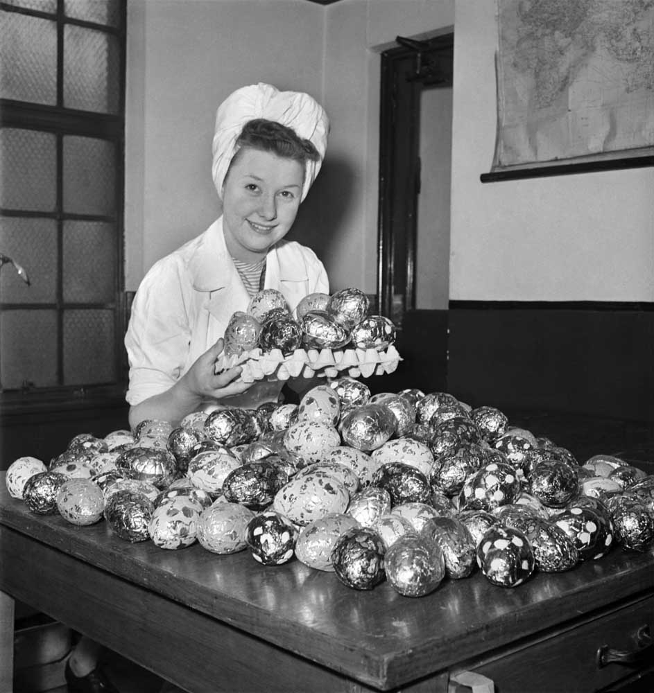 A rare tray of Easter eggs during post-war rationing