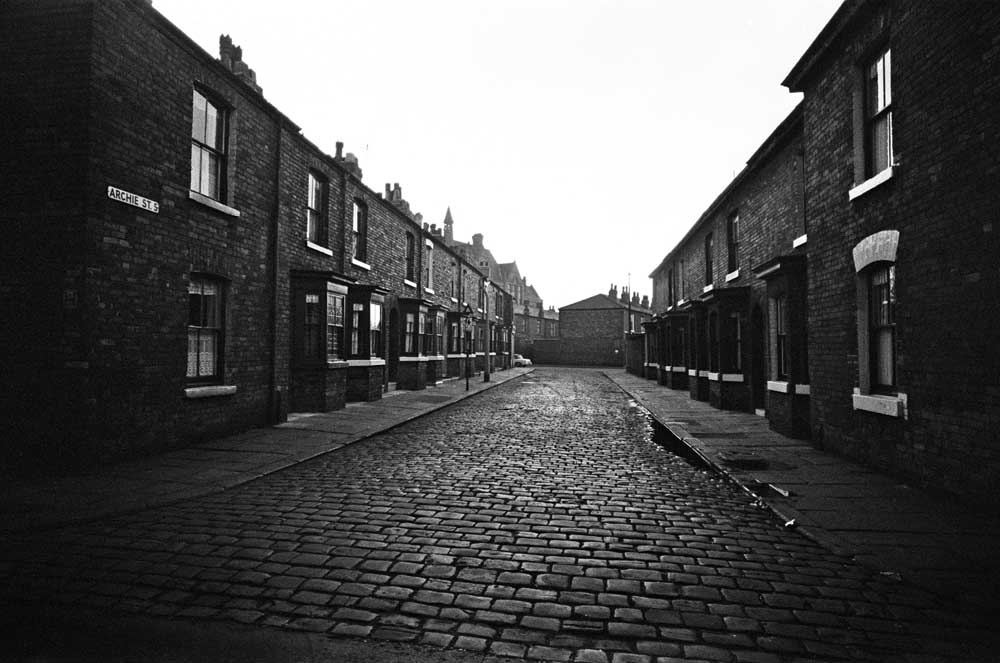View along Archie Street with its characteristic double-bay windows, June 1967