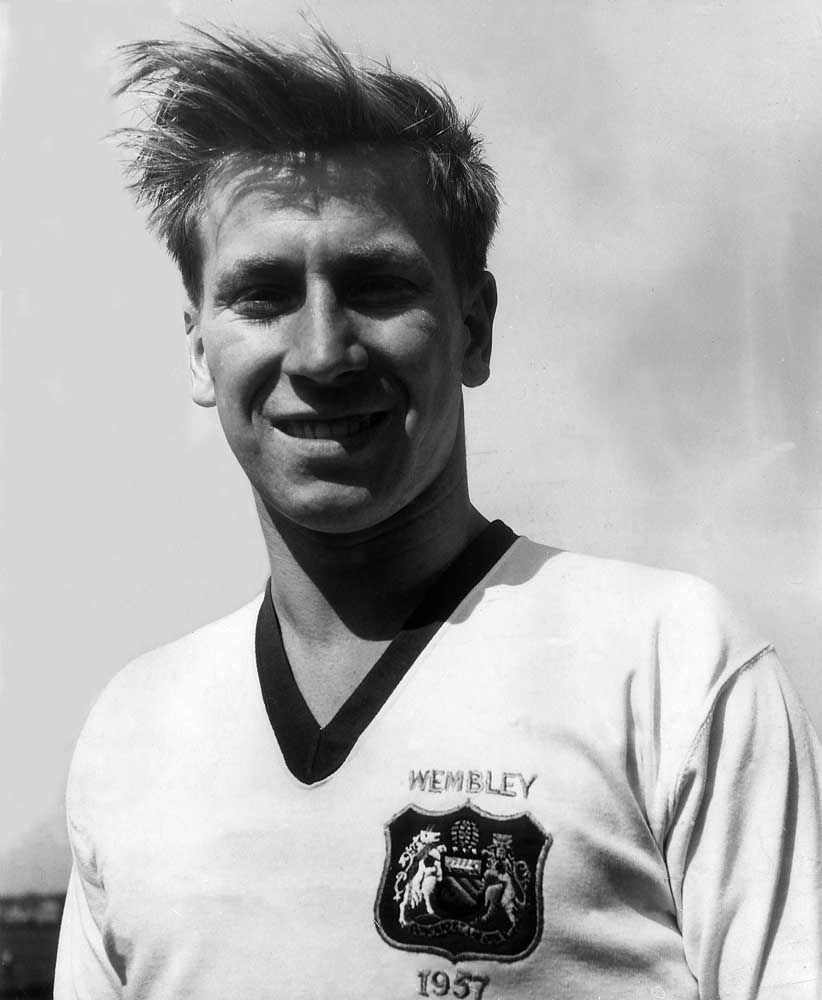 Midfielder Bobby Charlton who spent Christmases in Archie Street, May 1957