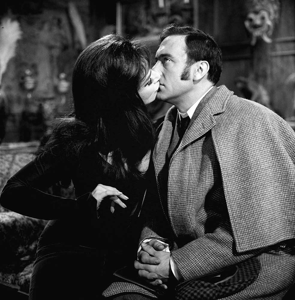 Harry H. Corbett with Fenella Fielding in Carry On Screaming, January 1966