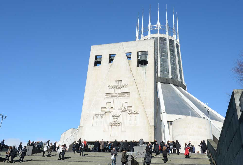 The funeral of The Real Thing star Eddy Amoo, at the Metropolitan Cathedral in Liverpool