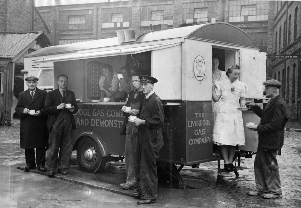 Liverpool Gas Company's state-of-the-art mobile canteen, July 1942