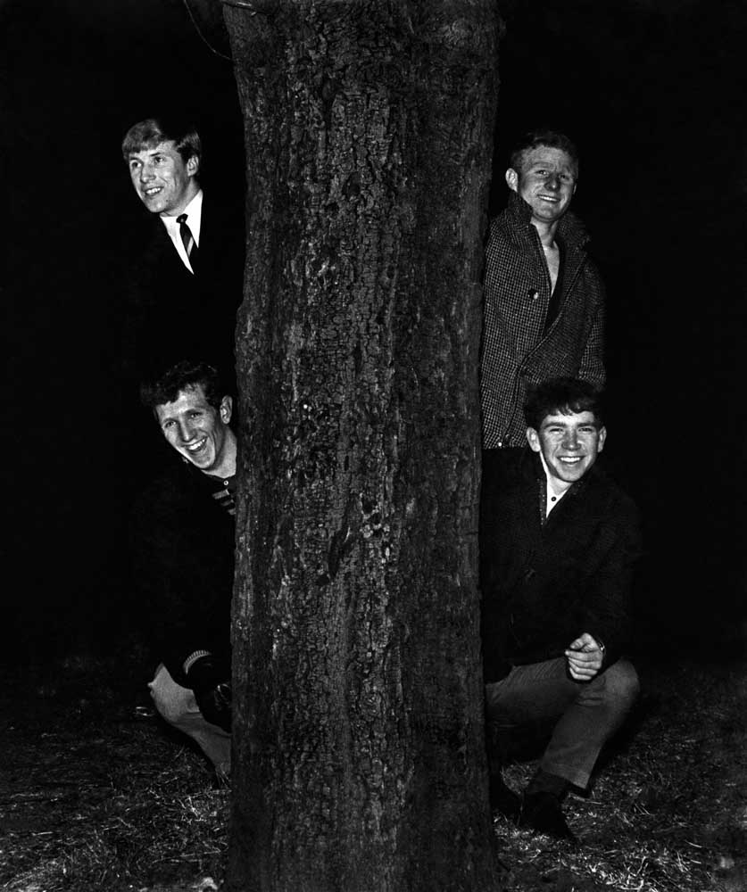 Babes in the Wood – Colin Bell and Alec Lindsay, top, with Bob Owen and Jimmy Kerr, January 1966