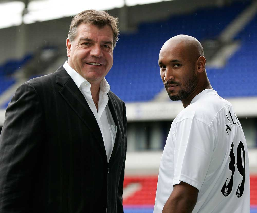 Nicolas Anelka is welcomed to Bolton by Sam Allardyce, August 2006
