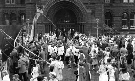 Whit Walks at Town Hall 1960