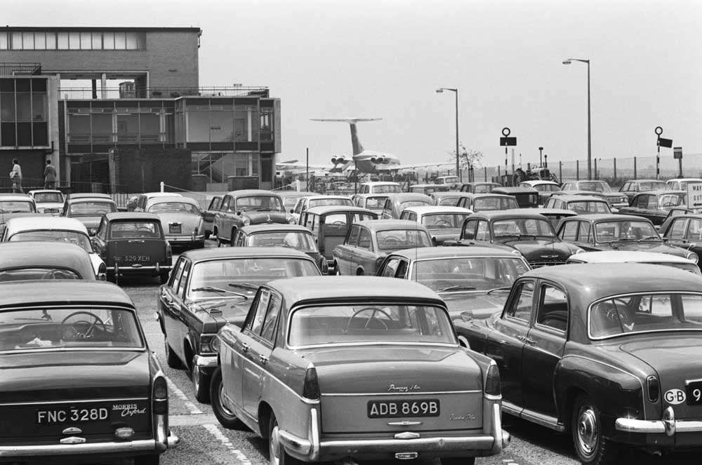 Cars-parked-at-Ringway-Airport