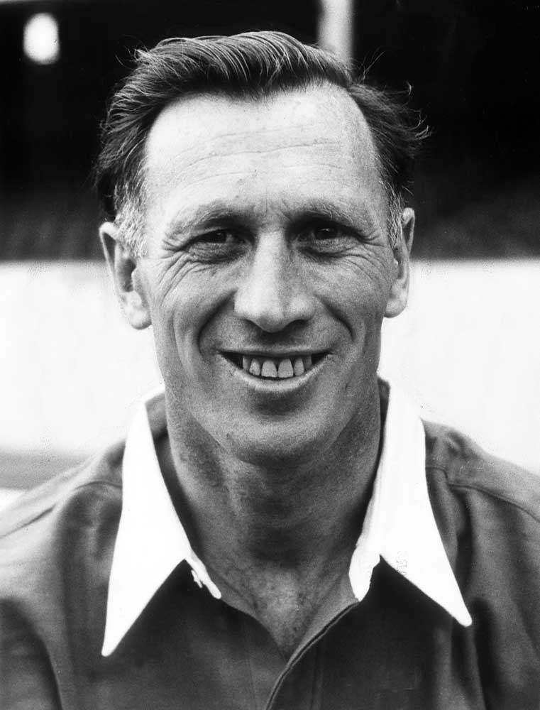 Portrait of Joe Mercer at the end of his playing career, August 1955