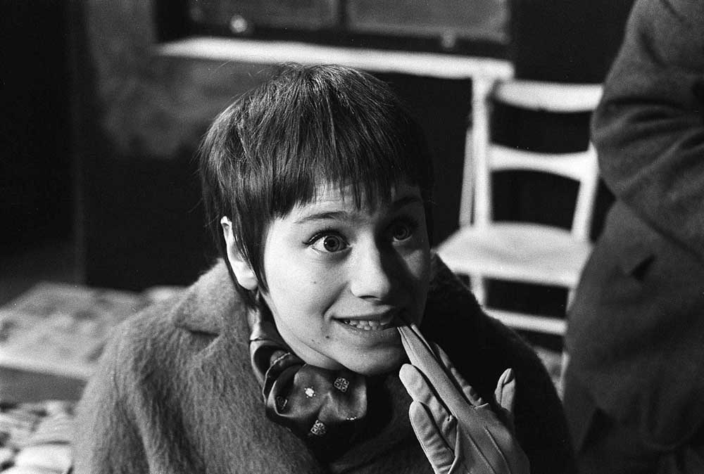 Rita Tushingham rehearsing for The Knack at the Royal Court Theatre, March 1962