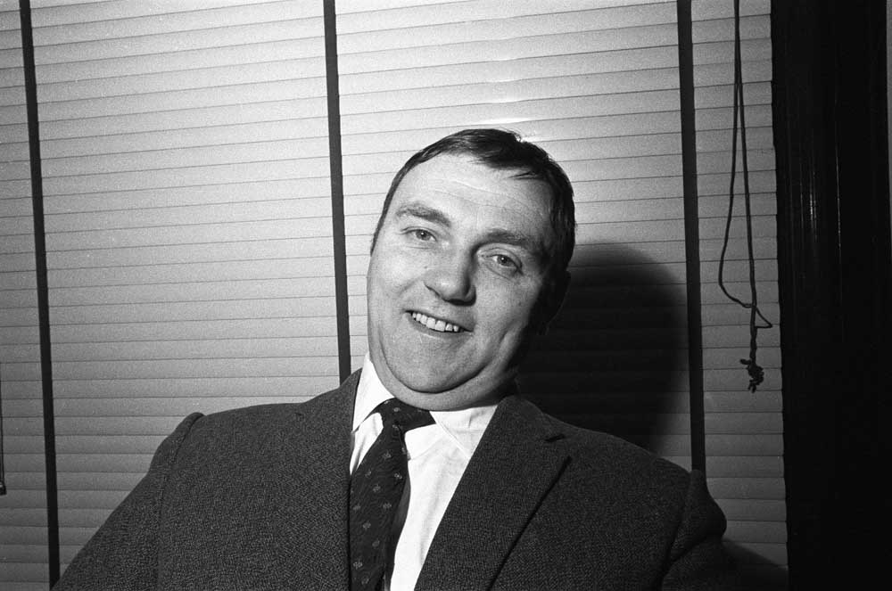 Les Dawson before his appearance at the London Palladium, March 1968