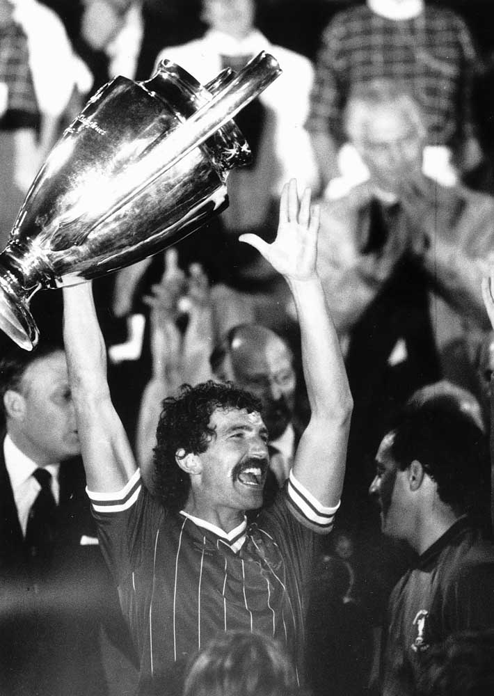 European Cup celebrations for Graeme Souness in Rome, May 1984