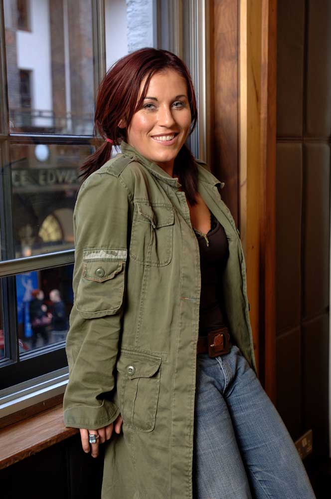 EastEnders star Jessie Wallace played Elsie Tanner in The Road to Coronation Street, May 2005