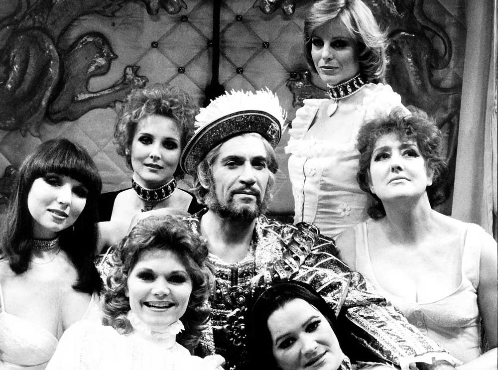 Frank Finlay as Henry VIII with his six wives, February 1978