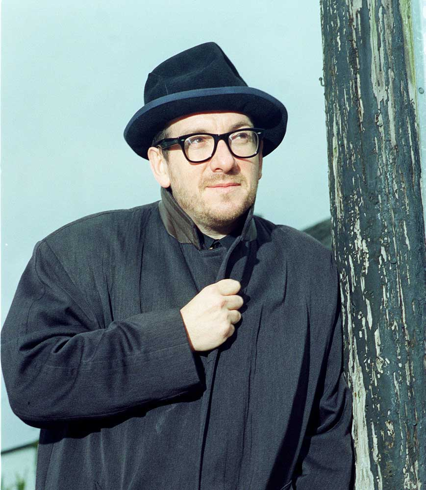 Elvis Costello who played on same bill as Roy Orbison, April 1999