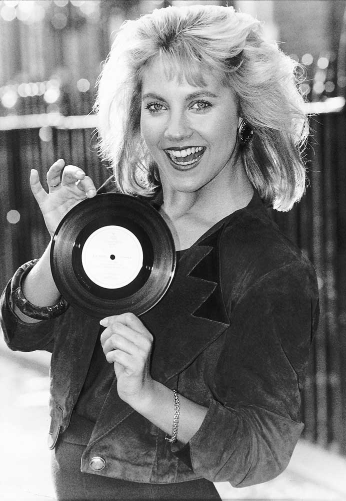 Malandra Burrows with her single Just This Side of Love, November 1990