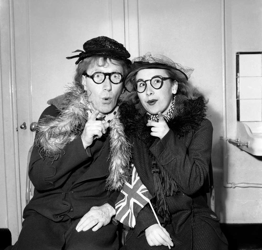 New Faces judge Arthur Askey in his heyday with daughter Anthea, April 1953