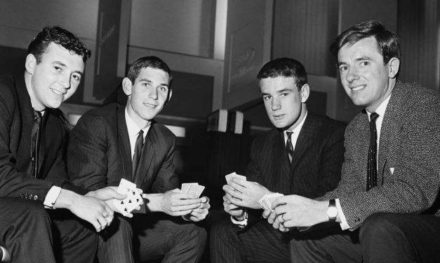 Everton players at airport 1963