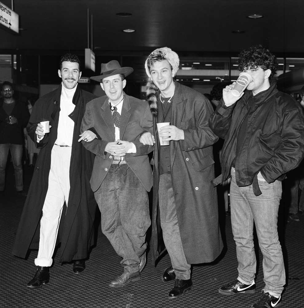 Paul Rutherford, Holly Johnson, Mark O'Toole and Peter Gill of Frankie Goes to Hollywood, October 1984
