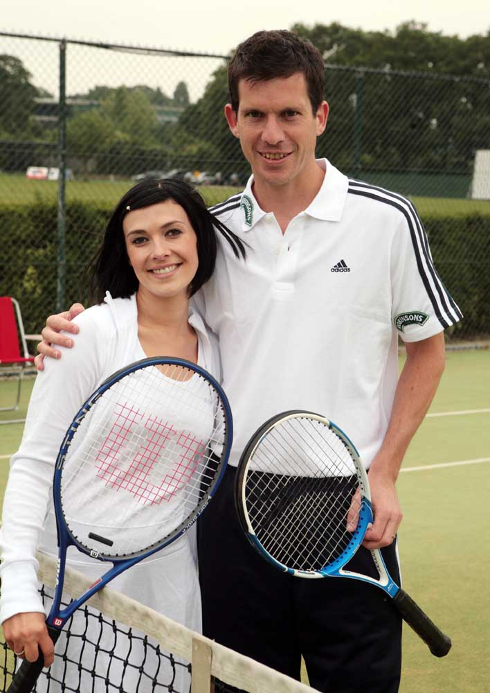 Kym Marsh (Michelle Connor) with Tim Henman at Wimbledon, May 2007