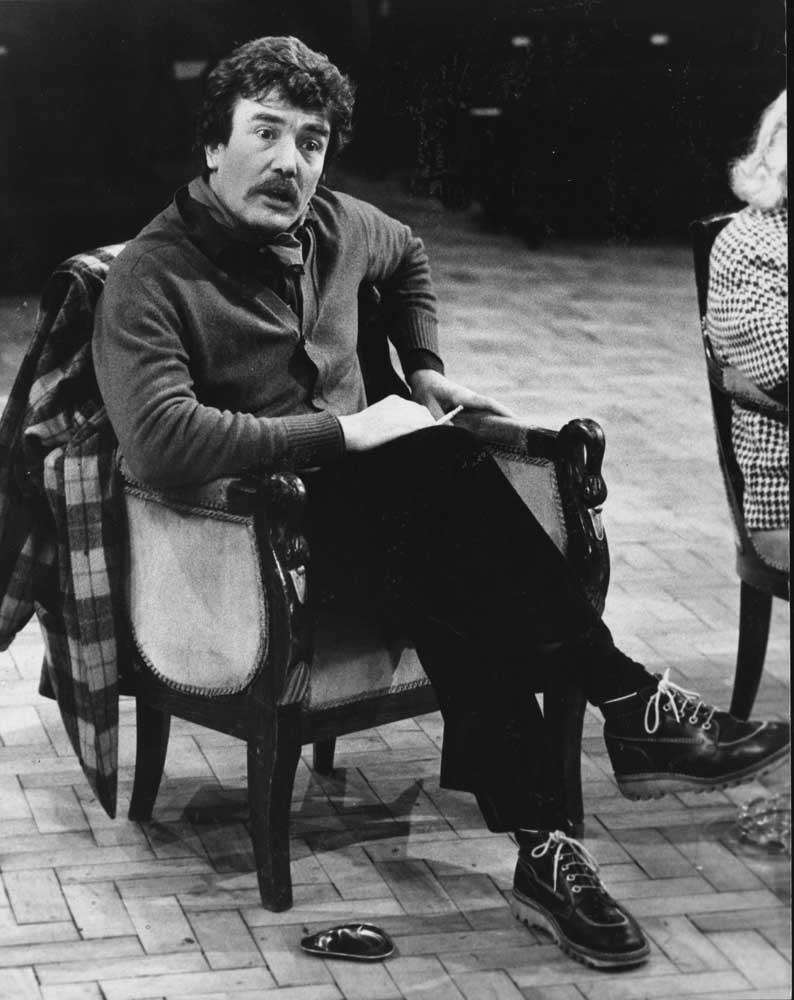 Albert Finney in Uncle Vanya at the Manchester Royal Exchange, February 1977