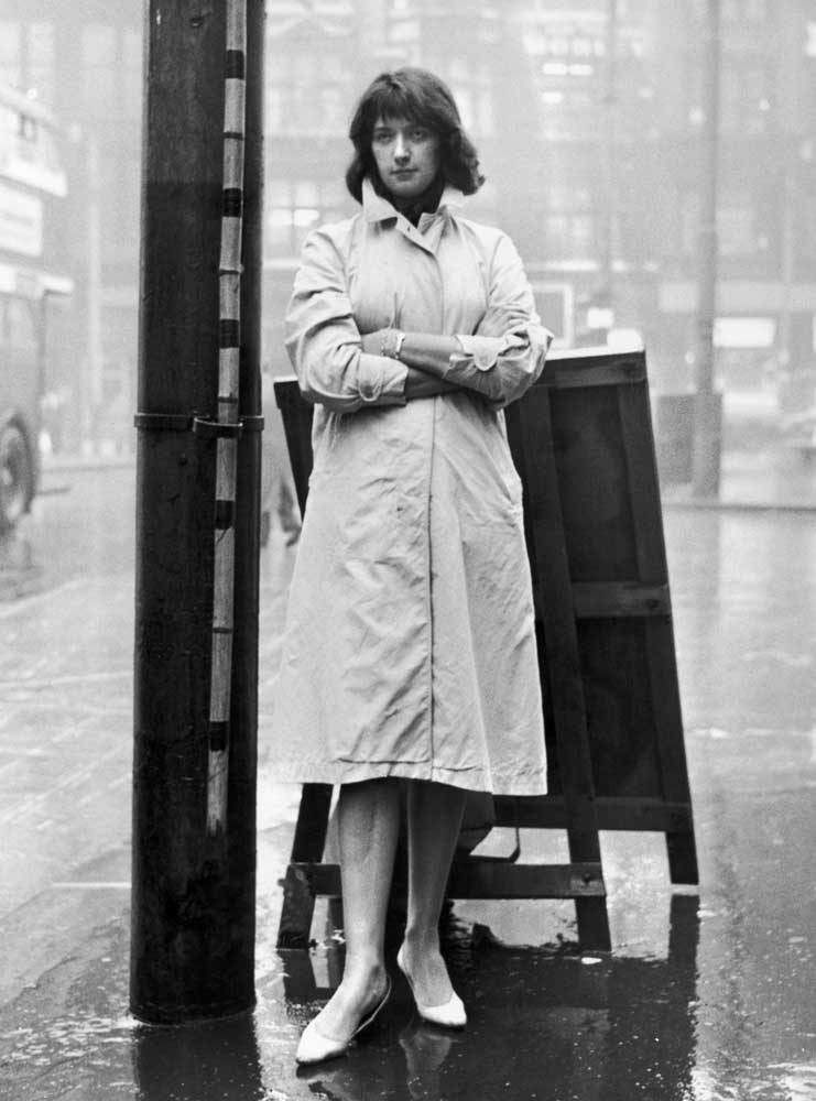 Shelagh Delaney who wrote the screenplay for Charlie Bubbles, September 1960
