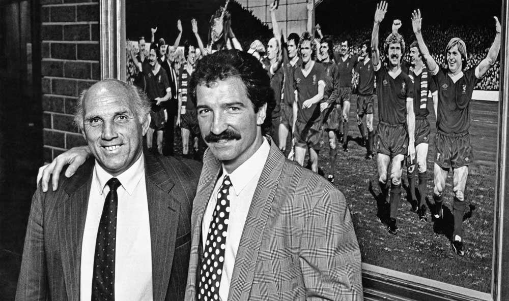 New Liverpool manager Graeme Souness, right, with assistant Ronnie Moran, April 1991