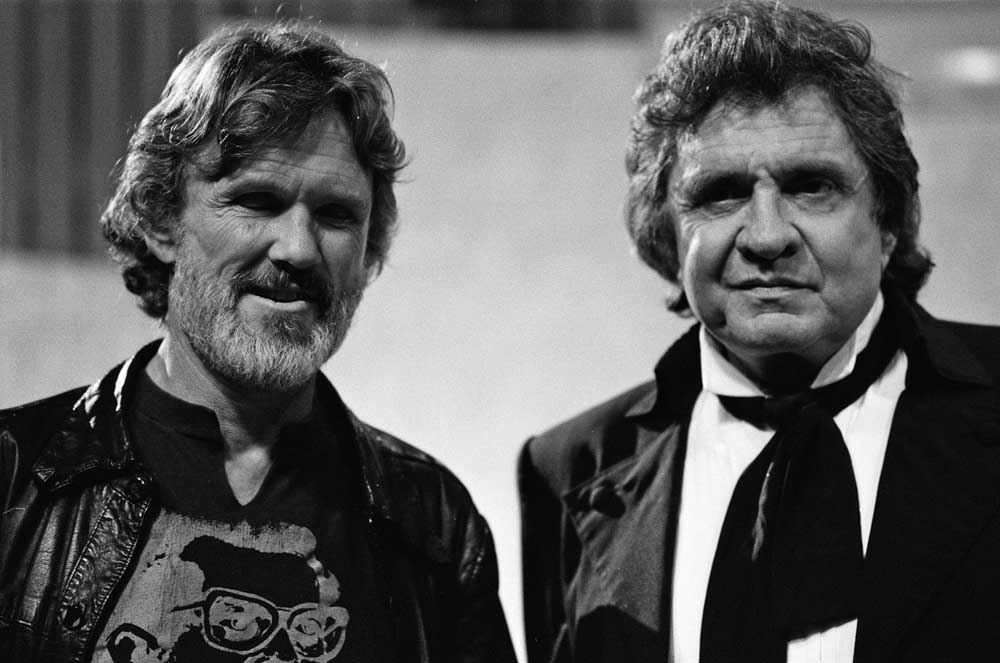 Kris Kristofferson and Johnny Cash on the Wogan TV show, August 1987