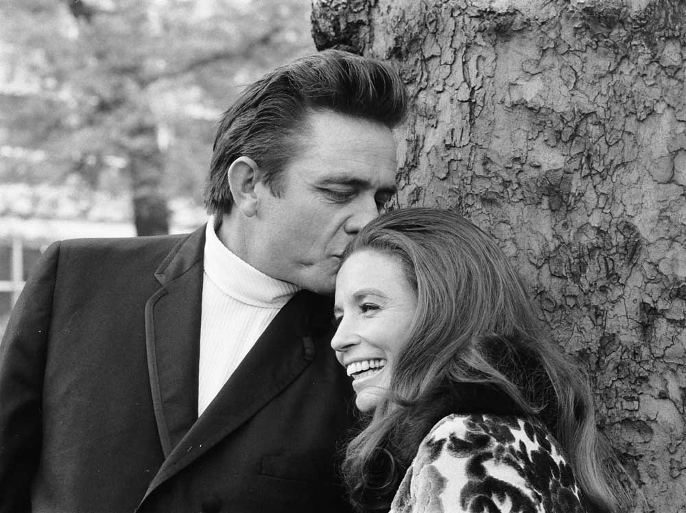 June Carter Cash and Johnny Cash in the UK weeks after their wedding, May 1968