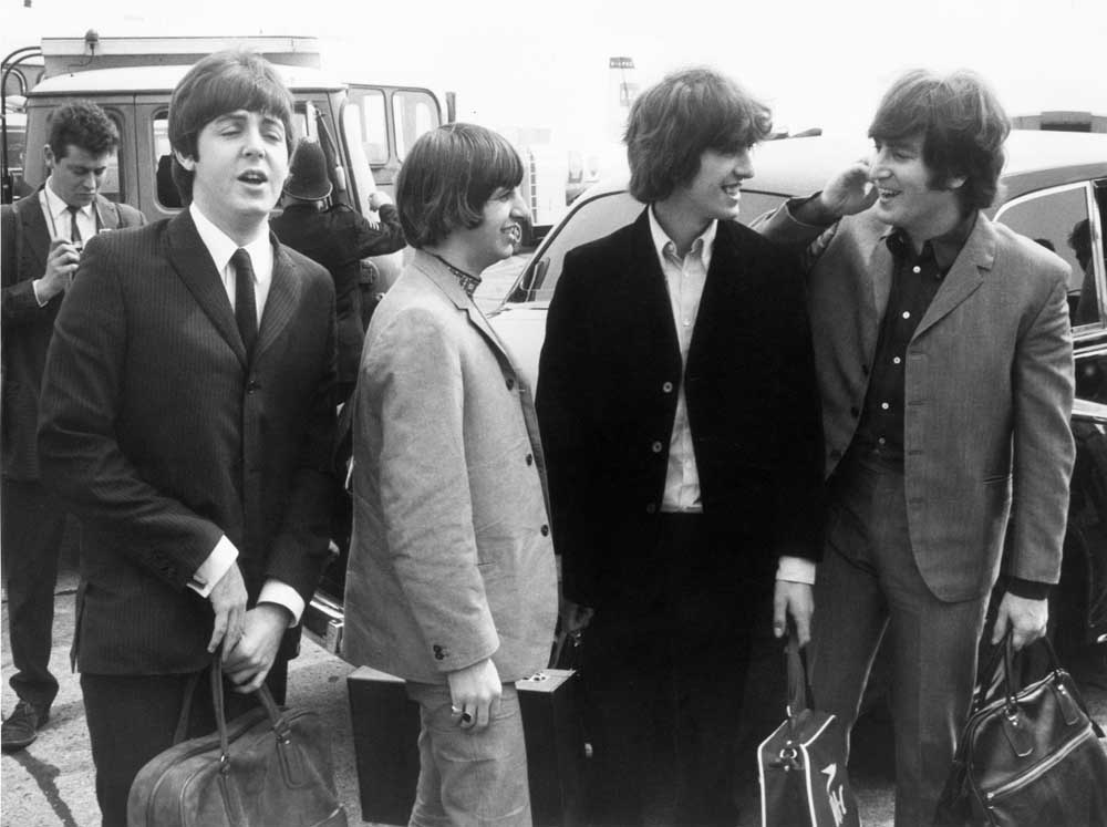The Beatles fly to the USA where they met Johnny Cash, August 1965