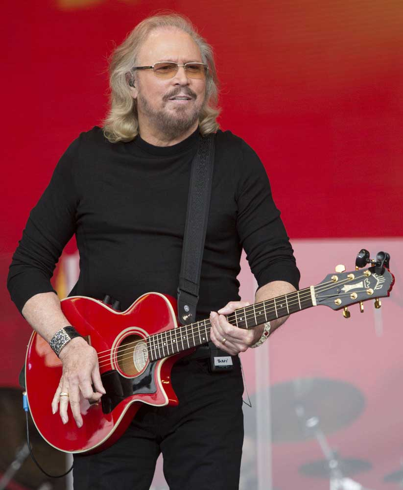 Barry Gibb, who bought Johnny Cash's mansion, on stage at Glastonbury, June 2017