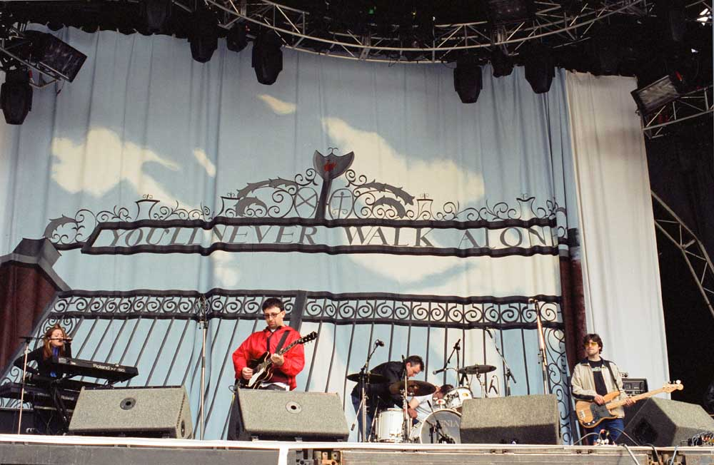 The Lightning Seeds at the Hillsborough Justice Concert, May 1997