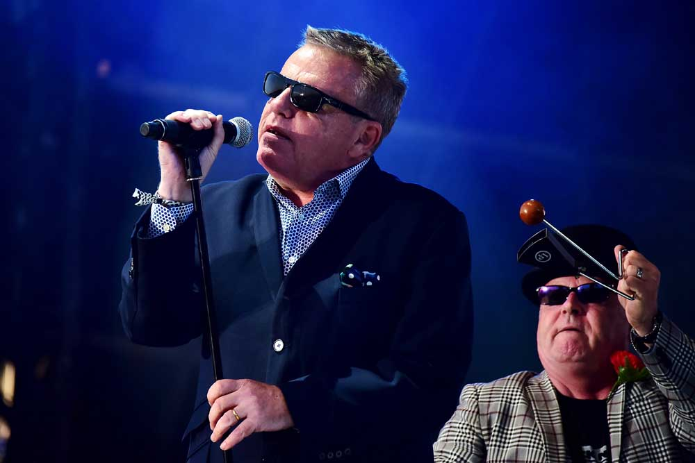 Suggs of Madness, who toured with the Lightning Seeds, September 2019