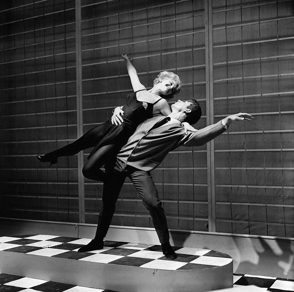Moira Lister and John Daul in the stage show See You Inside, October 1962