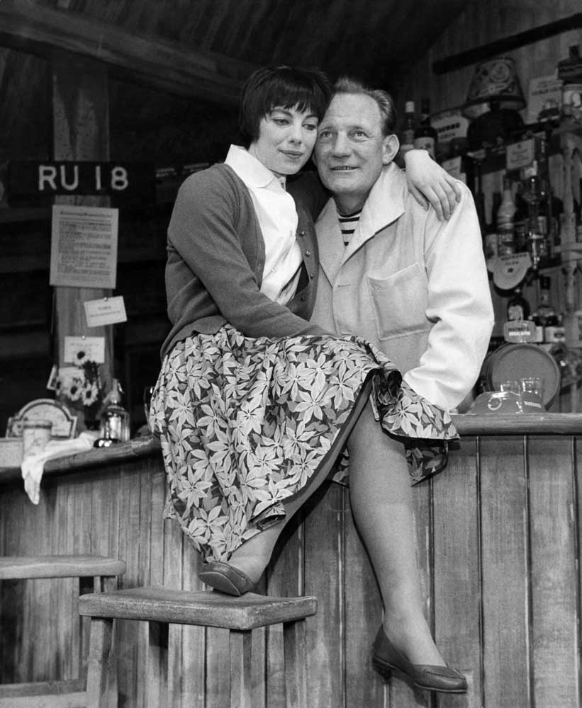 Trevor Howard and Patricia Healey in Two Stars for Comfort, March 1962