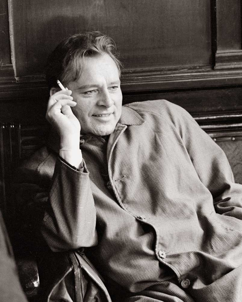 Richard Burton who made his stage debut at the Royal Court Theatre, May 1965
