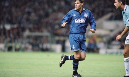 Kanchelskis takes on the Toffees
