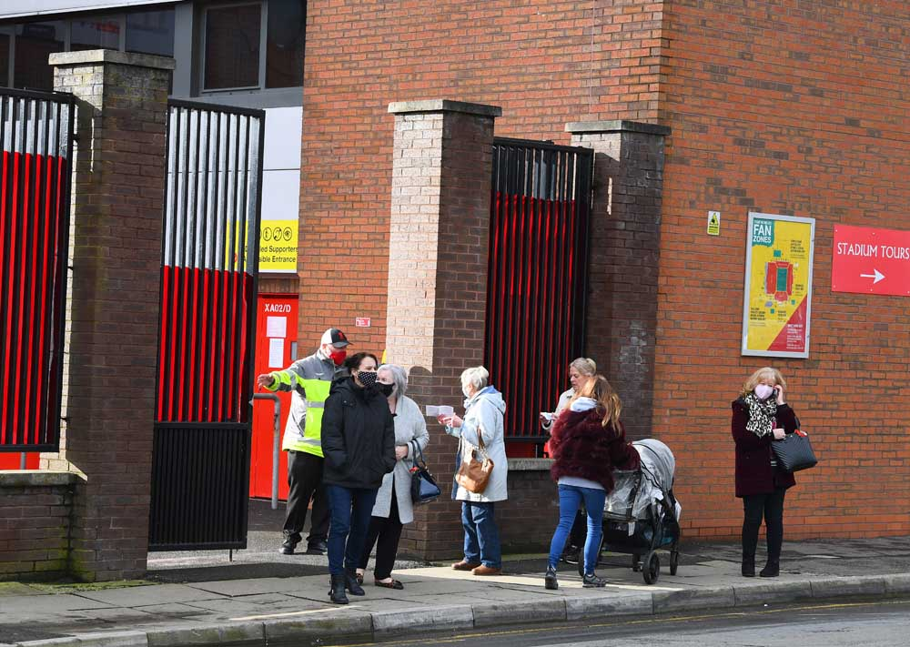 A new Covid-19 Vaccination Centre has opened up at Liverpool FC's Anfield Stadium.