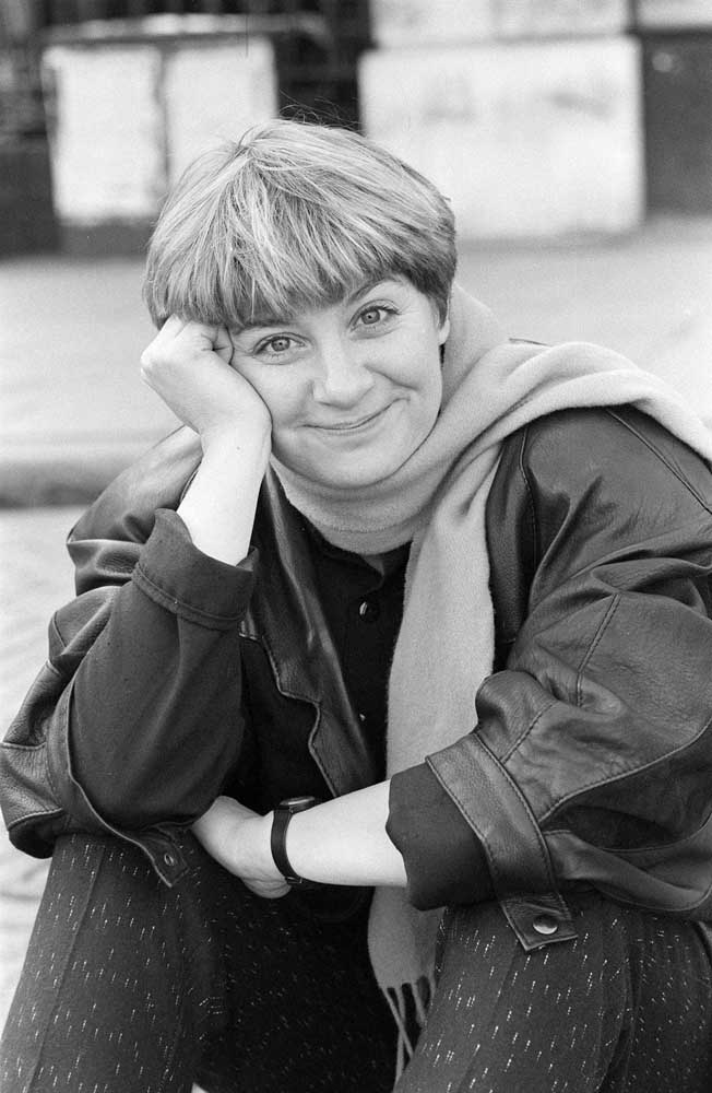 Prestwich comedienne and composer Victoria Wood, January 1986