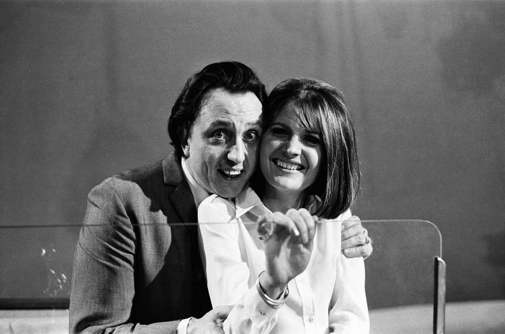 Ken Dodd recording his Manchester music show with singer Sandie Shaw, January 1967