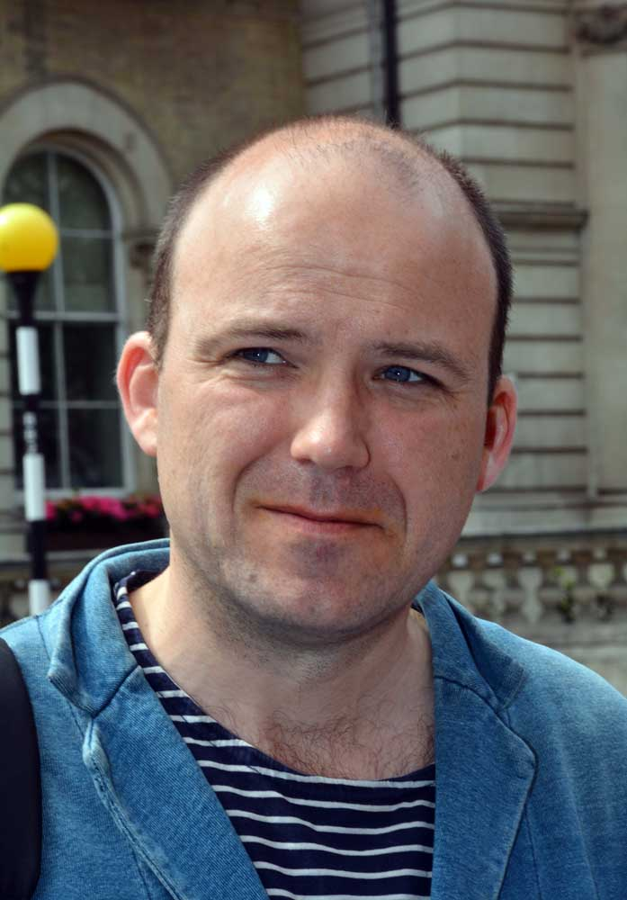 Actor Rory Kinnear who plays Bill Tanner in the latest James Bond films, May 2016