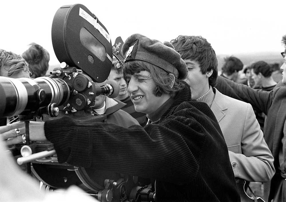 Ringo Starr on the set of the Beatles movie Help, May 1965