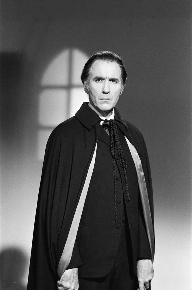 Christopher Lee in his familiar role of Dracula, October 1971