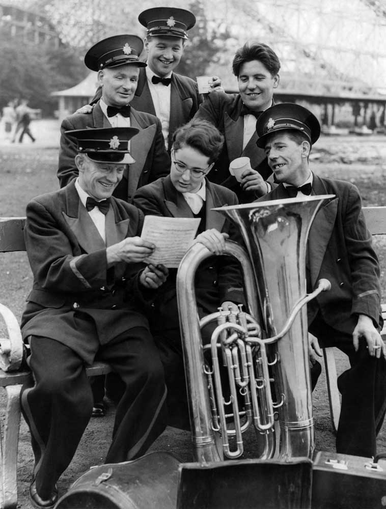 Annual September Brass Band Contest at Belle Vue in Manchester.