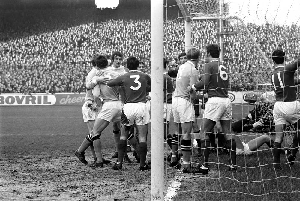 City and United goalmouth 1969